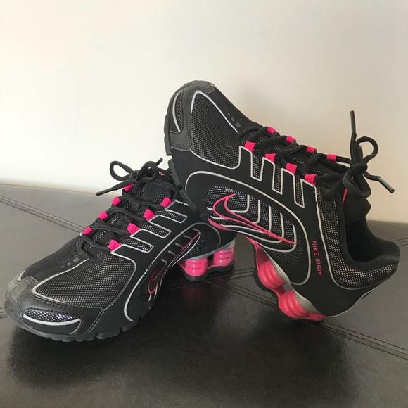 ... cheapest pink black glitter nike shox womens size 5.5 6fbbf a22f5 ed54f139a